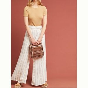 Anthropologie Farm Rio Everly Tie Front Pants